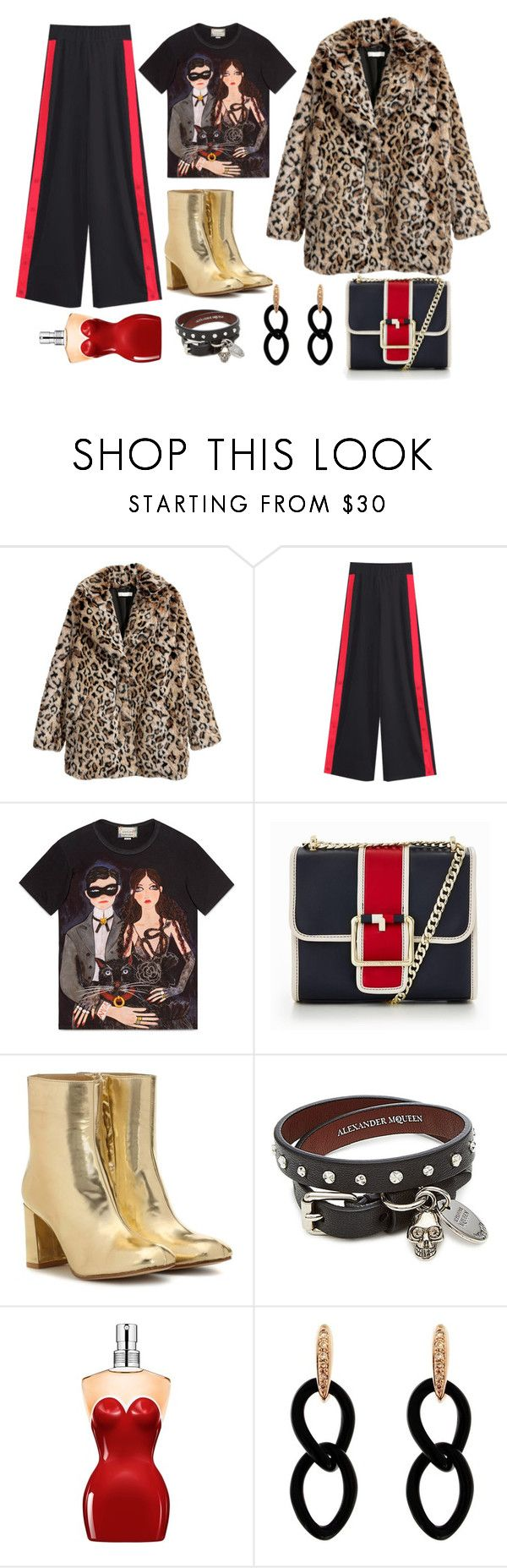 """Evening disco outfit"" by annet-a on Polyvore featuring мода, Gucci, Tommy Hilfiger, Maryam Nassir Zadeh, Alexander McQueen, Jean-Paul Gaultier и Jona"