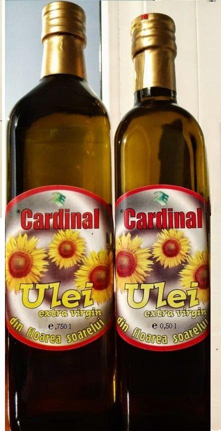Ulei-de-floarea-soarelui: Ulei de floarea soarelui Cu metoda de extractie la rece de la firma 2E PROD , se obtine un ulei de floarea soarelui cu calitati nutritive, bogat in vitamine, si acizi grasi nesaturati si cu multe proprietati terapeutice.