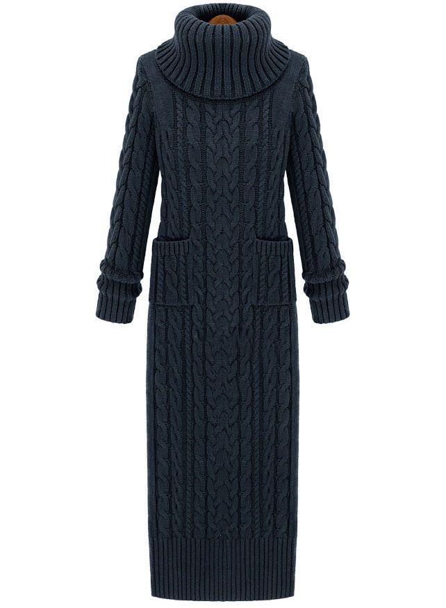 Shop Dark Grey High Neck Split Cable Knit Sweater Dress online. SheIn offers Dark Grey High Neck Split Cable Knit Sweater Dress & more to fit your fashionable needs.