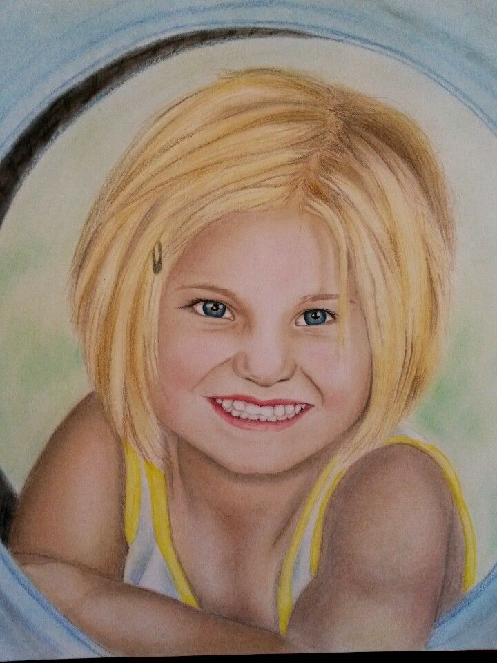 Custom portrait of little Leandri. Done in Soft Pastel and Coloured pencils by Carina van der Linde
