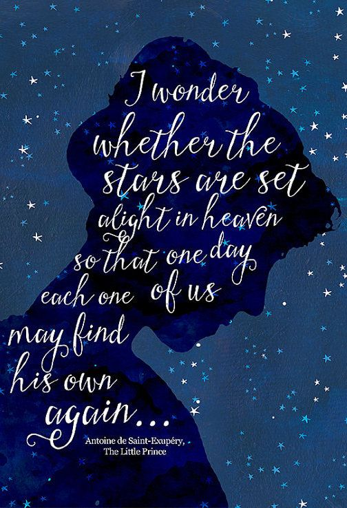 I wonder whether the stars are set alight in heaven so that one day each one of…