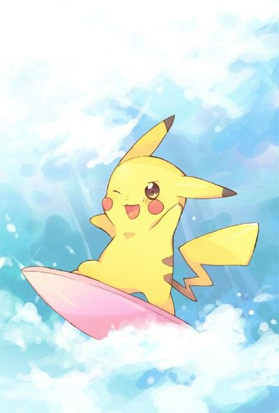 Pikachu surfing time :)