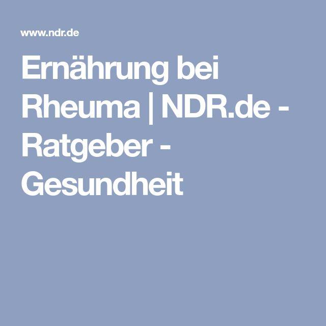 Ernährung bei Rheuma | NDR.de - Ratgeber - Gesundheit