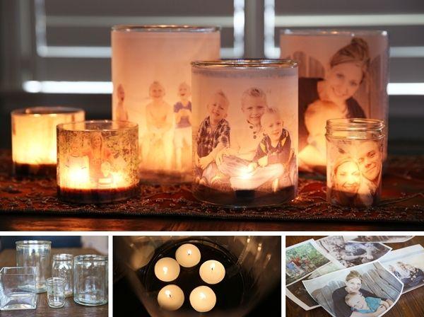 Amazing Glowing Family Photo Luminaries  - http://www.amazinginteriordesign.com/amazing-glowing-family-photo-luminaries/