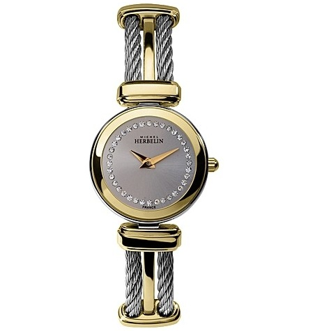 Michel Herbelin Ladies Silver Dial Two Tone Cable Watch 17420/BT62