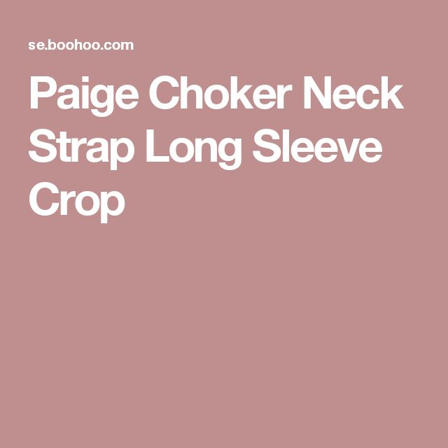 Paige Choker Neck Strap Long Sleeve Crop