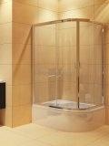 NEW TRENDY Kabina prysznicowa asymetryczna MAXIMA K-0120 120x85x165 szkło czyste