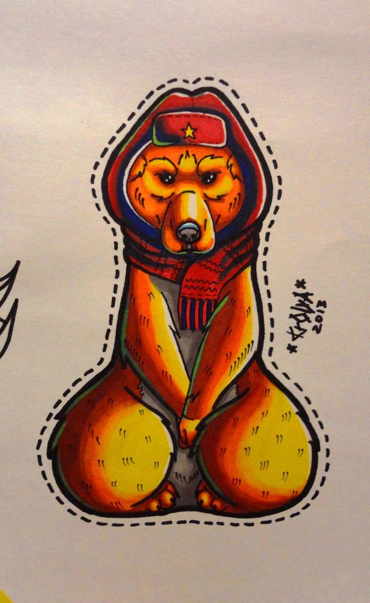 Bear Tattoo Sketch My Work Pinterest