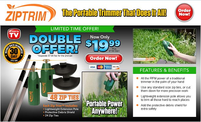 Zip Trim Is A Portable Weed Trimmer That Uses Standard Zip