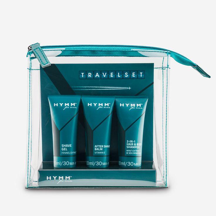 Vos produits HYMM préférés dans un set pratique au format voyage.