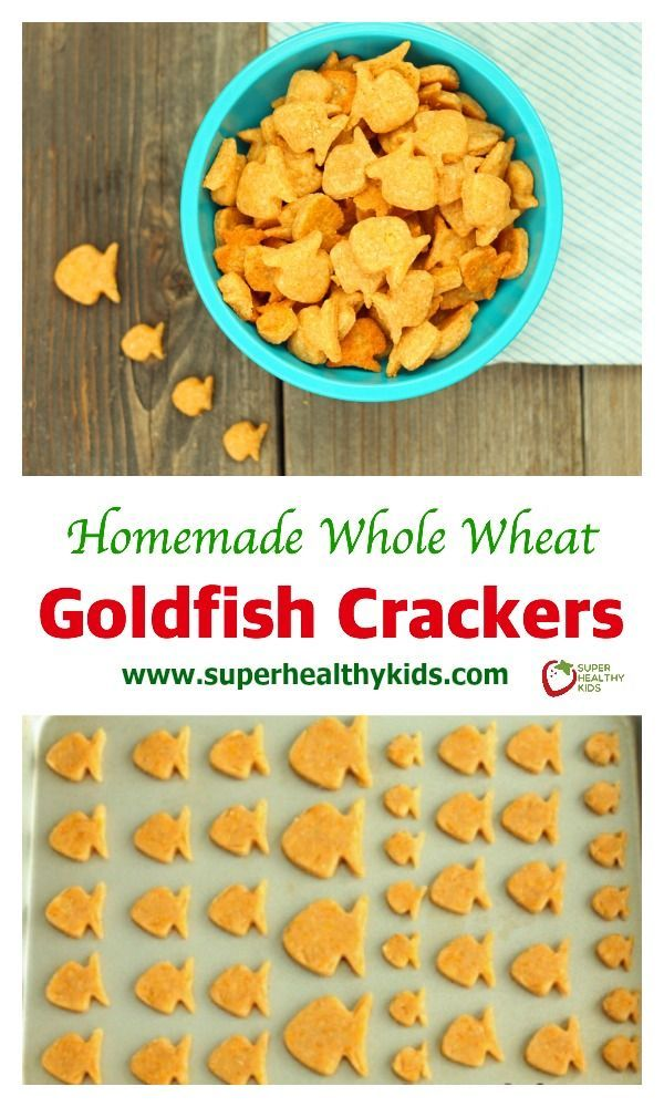 Homemade Whole Wheat Goldfish Crackers Recipe. Homemade goldfish! Don't you just love these little fish cutters? www.superhealthykids.com/whole-wheat-goldfish-crackers