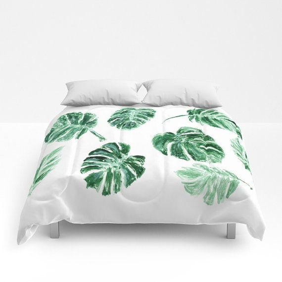 M s de 25 ideas incre bles sobre hojas tropicales en for Housse de couette palmier
