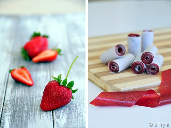 Homemade Strawberry Roll-Ups: wholesome treats that you want to make for your kids.  Only 3 ingredients.  :)