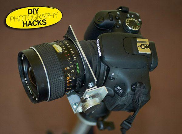 DIY Photography Hacks: make a DIY tilt-shift lens from an ordinary optic