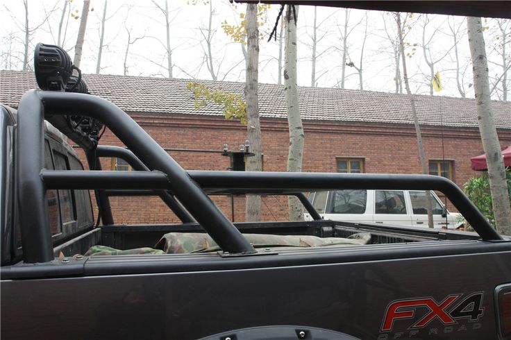 With markroad Roll Bar installed on F150 FX4 Ford F150