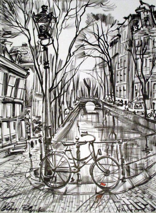Nu in de #Catawiki veilingen: Elena Polyakova - Singel Amsterdam
