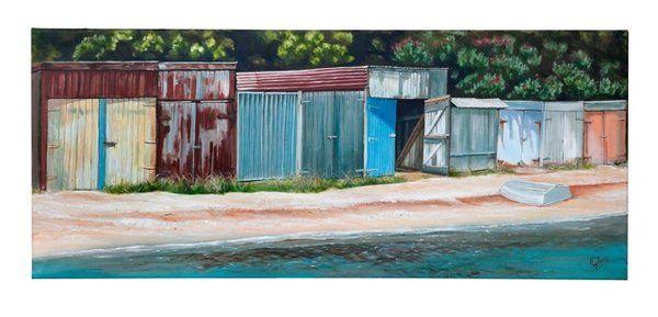 Kawakawa Bay Boatsheds by Graham Young