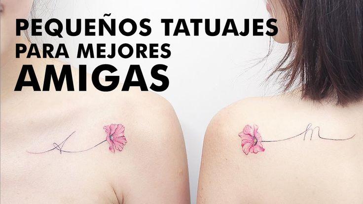 Pequeños tatuajes de mejores amigas