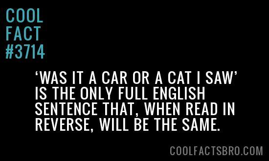 Cool Fact #3714
