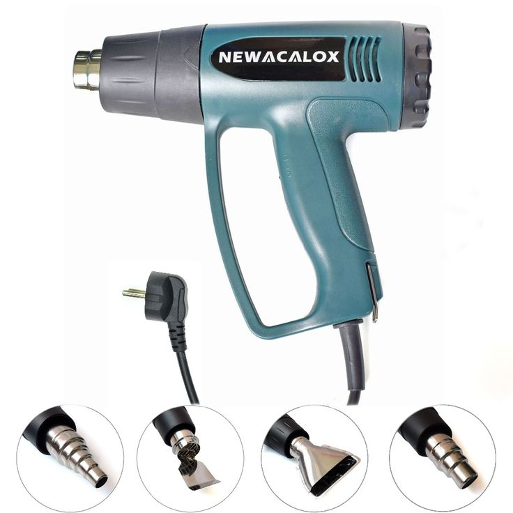 BRAND NEW 2000 Watt 220V EU Plug Industrial Electric Hot Air Gun Thermoregulator Heat Guns Shrink Wrapping Thermal Heater Nozzle