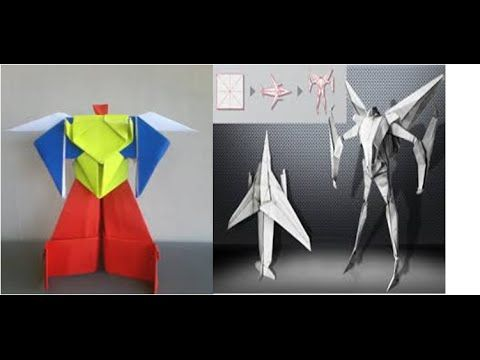 Origami Robot Power Ranger & Origami Robot Transformer   How to Make Origami Paper - YouTube