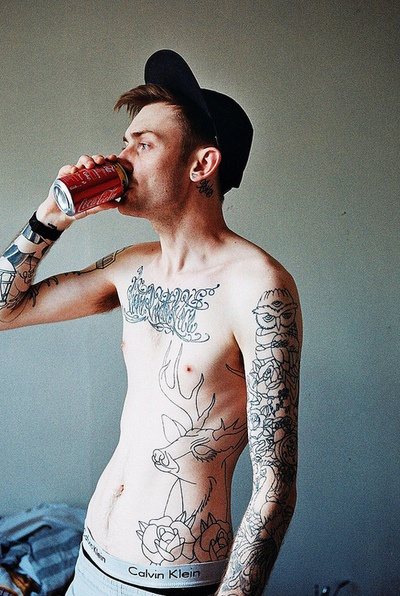 Skinny, see through, and covered in tattoos = my kind of ...