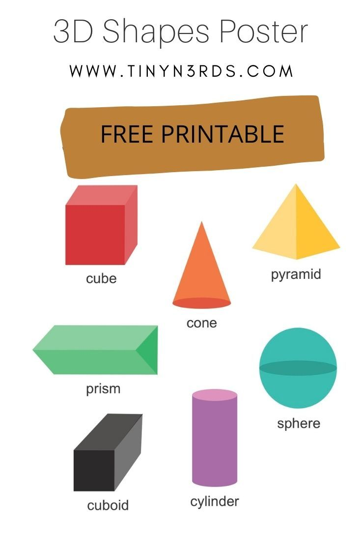 3d Shapes Poster Shape Posters Learning Poster 3d Shape Posters [ 1102 x 735 Pixel ]