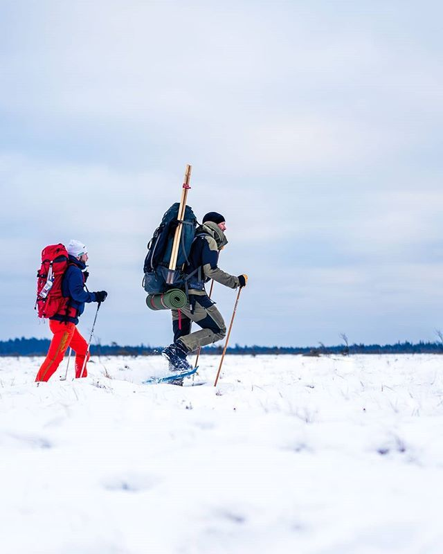 Who would like to join this snowshoe hike adventure? Billingen mountain Skövde Sweden.  #snowshoe #adventure #winter #sweden #visitsweden