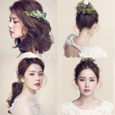 Korean wedding hair, so pretty even if you're not getting married.