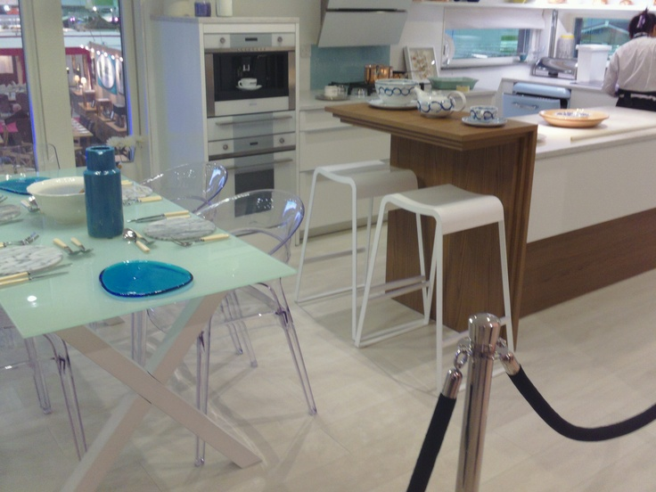 Low Cost Living House styled by Sophie Wyatt. Ideal Home Show March 2013. #openplan #kitchen #dining