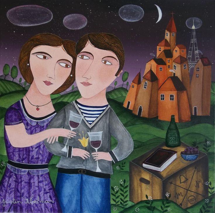 First Love..Acrylic on canvas