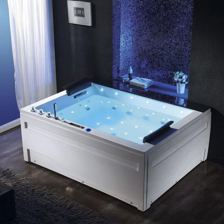 Seul ou a deux, profitez des plaisirs de la balnéothérapie à domicile dans cette baignoire doté d'un système de massage des cervicales pour une détente complète.