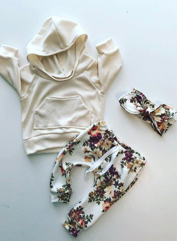 tenue fille de bébé / baby vêtements fille / floral print / – If I decide to reproduce