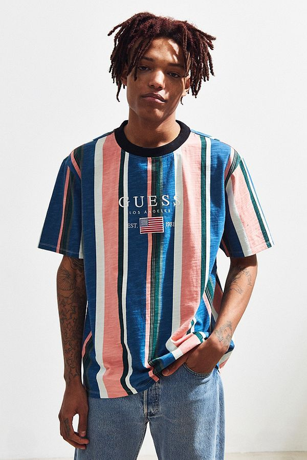 fa8d74910c 46329215_066_d (600×900) | cc in 2019 | Striped tee, Guess shirt, Urban  Outfitters