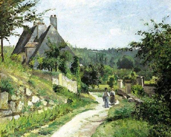 Camille Pissarro - La causette, chemin du chou à Pontoise, 1874   Huile sur lin - 60 X 73 cms   Collection particulière