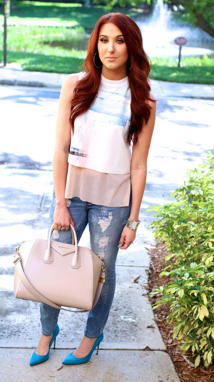 Jaclyn Hill Fashion, Outfits, Light auburn
