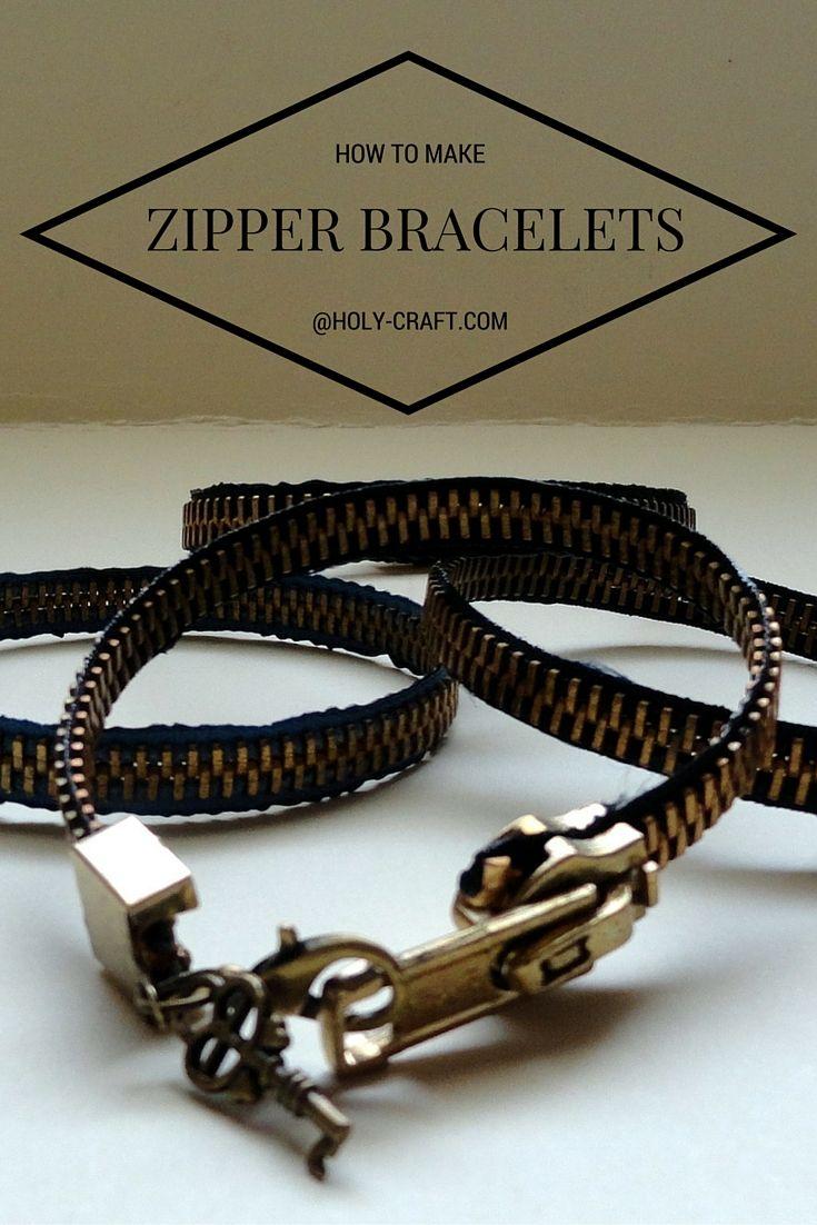 Easy to make zipper bracelet tutorial