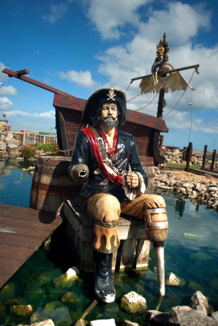 Challenge the whole family to a game of mini golf at Smugglers Cove on South Shields sea front.