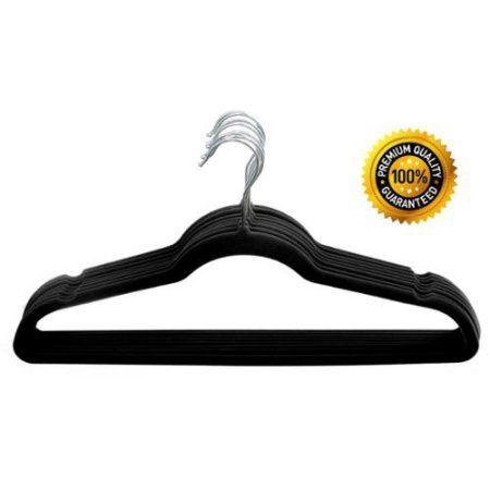 Home-it 50 Pack Clothes Hangers Black Velvet Hangers Clothes Hanger Ultra Thi... - Walmart.com $24