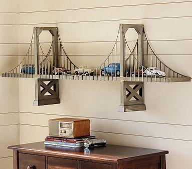 Bridge Shelf #pbkids- How can we make this? I need a knock-off!
