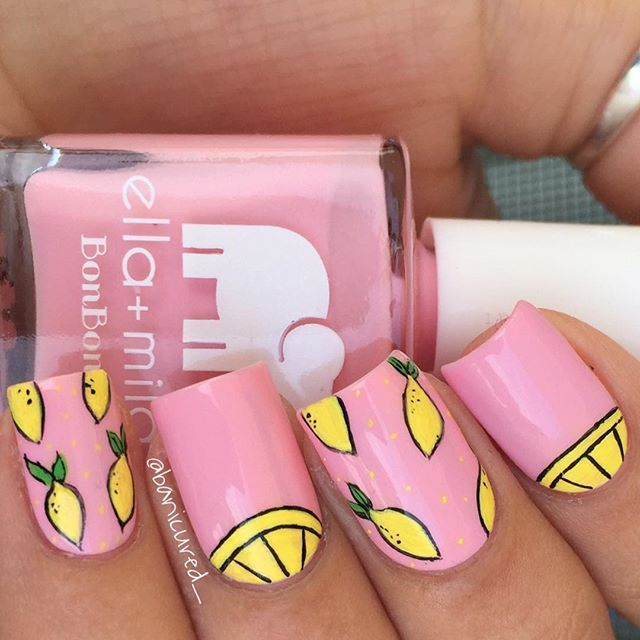 #LEMONADE  Pink polish is @ellamilapolish Pucker Up