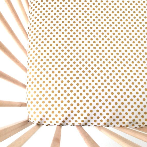 Hey, I found this really awesome Etsy listing at https://www.etsy.com/listing/159427363/crib-sheet-metallic-gold-dots-fitted