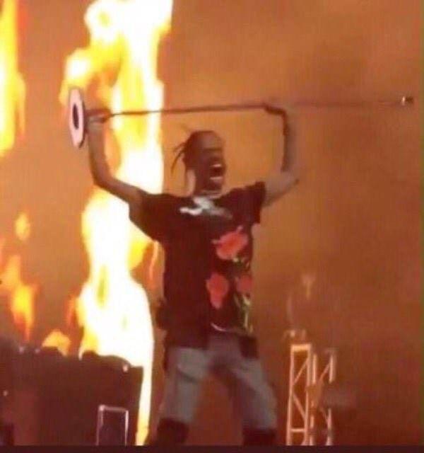Travis Scott at his concert last night