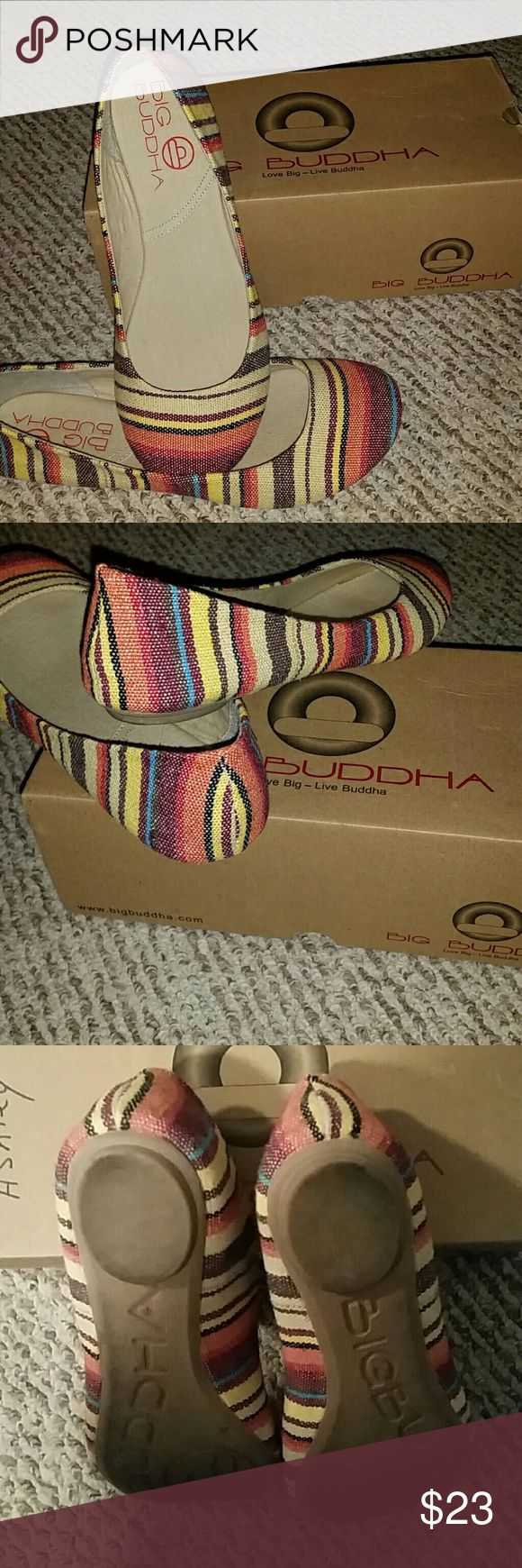 Multi Color Shoes These are cute flats. I wore them maybe twice times. Big Buddha Shoes Flats & Loafers