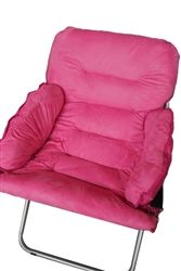 Must Have College Club Dorm Chair Seating Options - Plush & Extra Tall - Pink $46.74