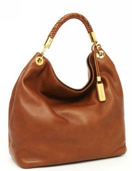 07ec1b721974 Michael Kors Skorpios Large Shoulder Bag Cinnamon Textured Leather ...