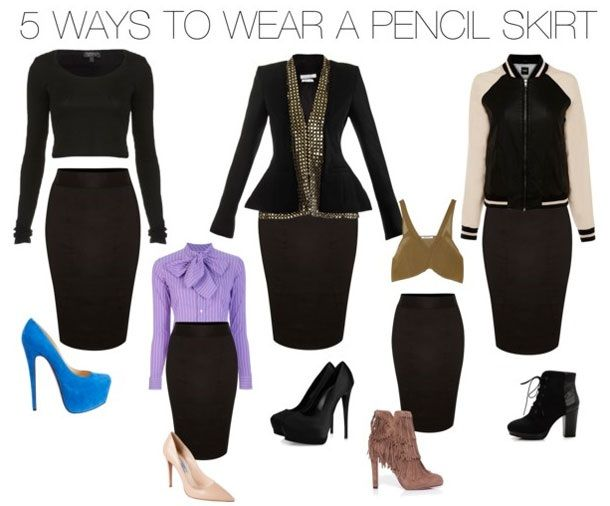 It's a staple for every wardrobe… dress up or dress down a pencil skirt, it always works!