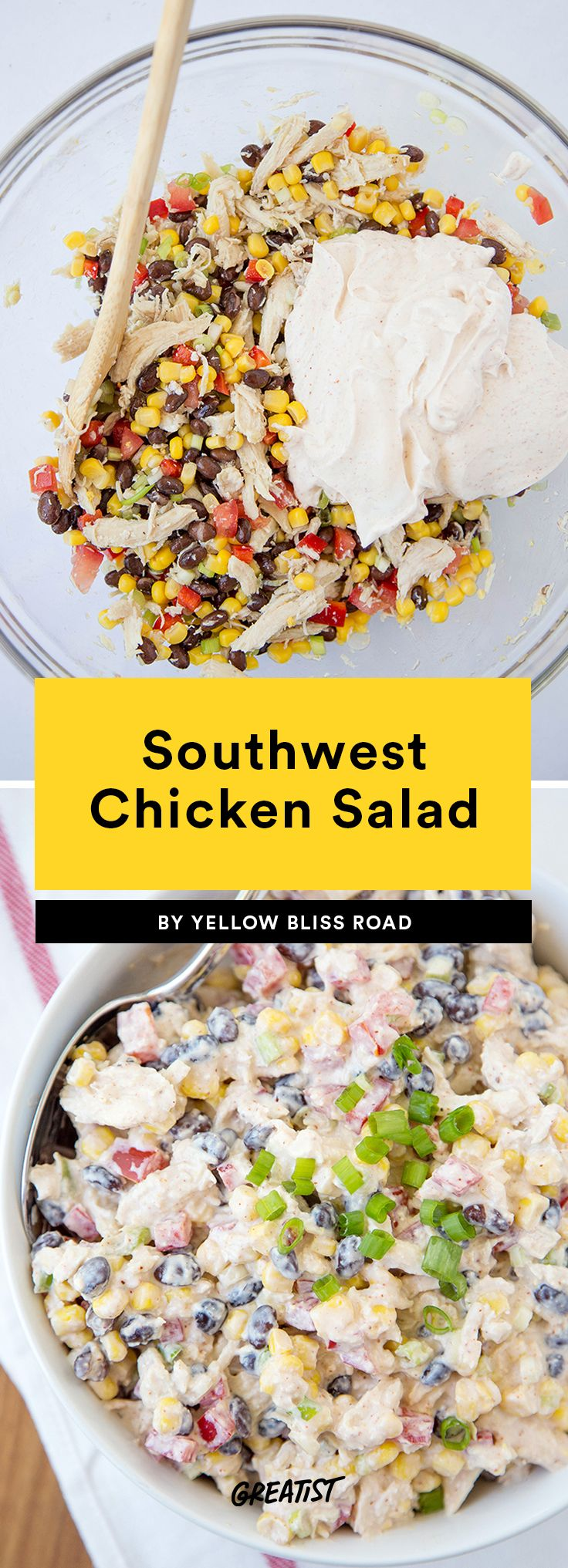 4. Southwest Chicken Salad #greatist https://greatist.com/eat/healthy-chicken-salad-recipes