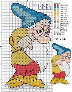 Snow White 4 | Disney puntocroce /cross stitch / punto de cruz | Pinterest | Snow White, 7 Dwarfs and Snow