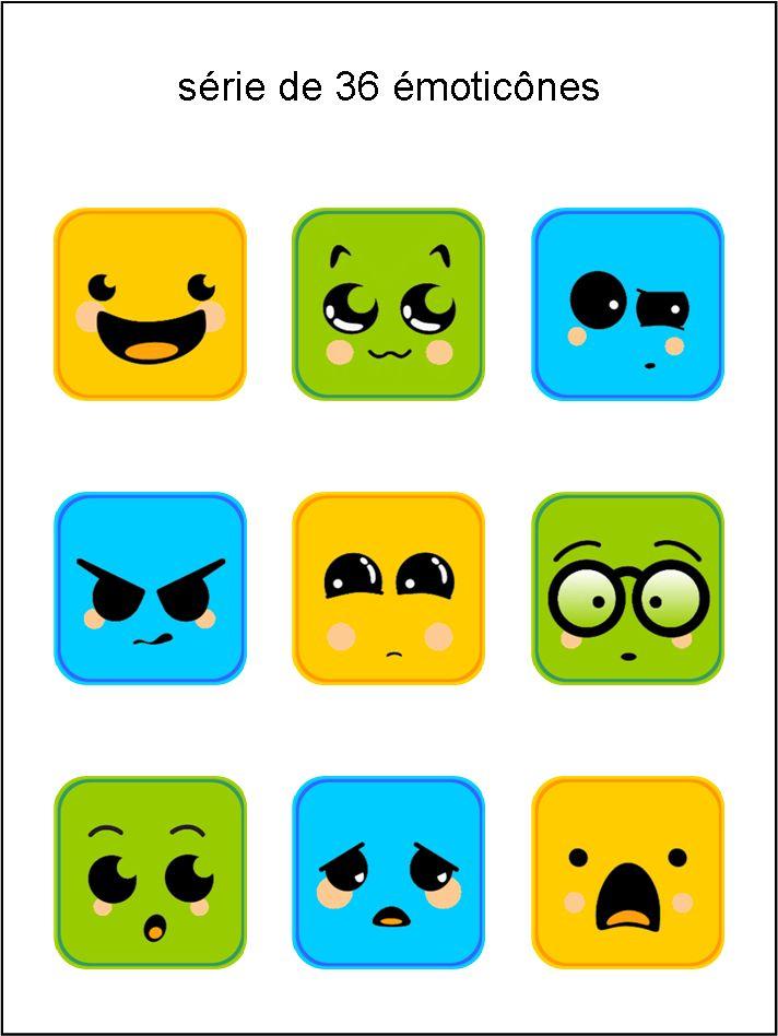 CB - collection de visages jaune vert bleu - smiley émoticône clipart cartoon - téléchargement gratuit et sans inscription